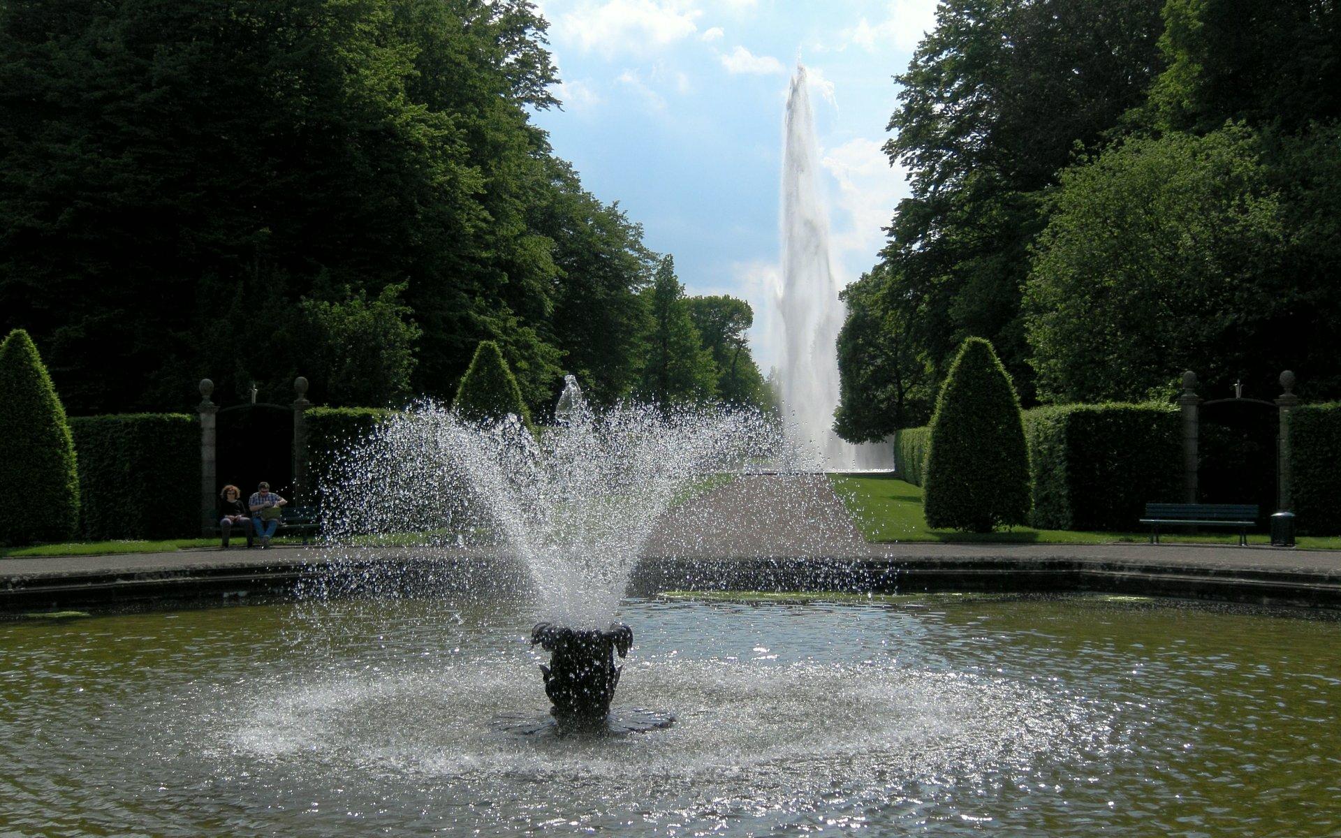 Kleine und große Fontaine im Großen Garten