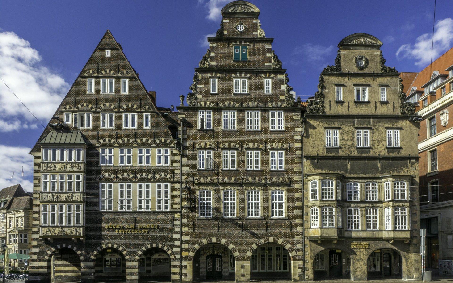Häuser am Unser Lieben Frauen Kirchhof in Bremen