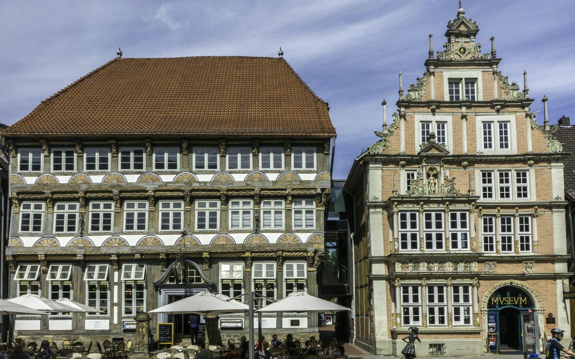 Stiftsherrenhaus und Leisthaus in der Osterstraße in Hameln