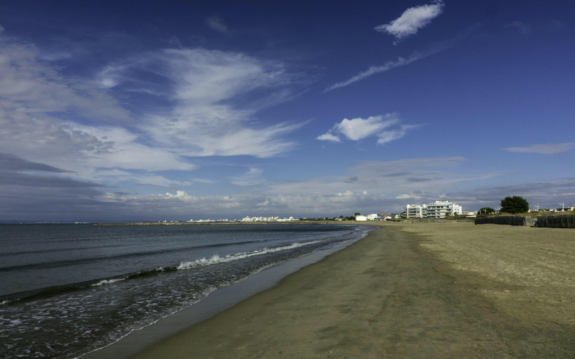 Strand am Boulevard du Docteur Jean Bastide in Le Grau-du-Roi Richtung La Grande-Motte