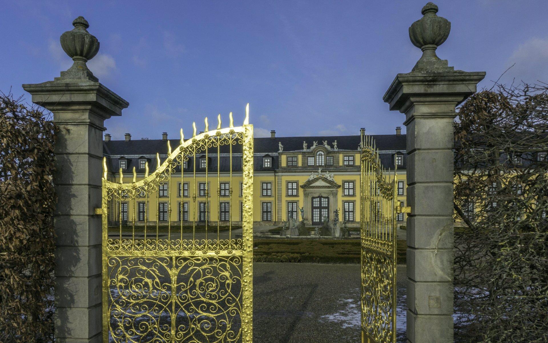 Goldenes Tor, Orangeriegarten und Galerie im Großen Garten