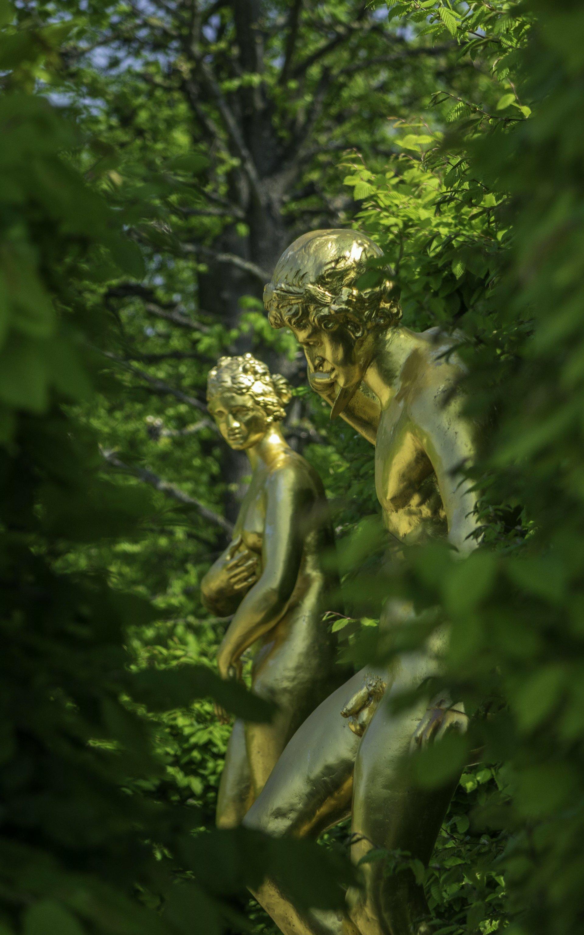 Zimbelspieler und Venus Medici im Gartentheater des Großen Gartens