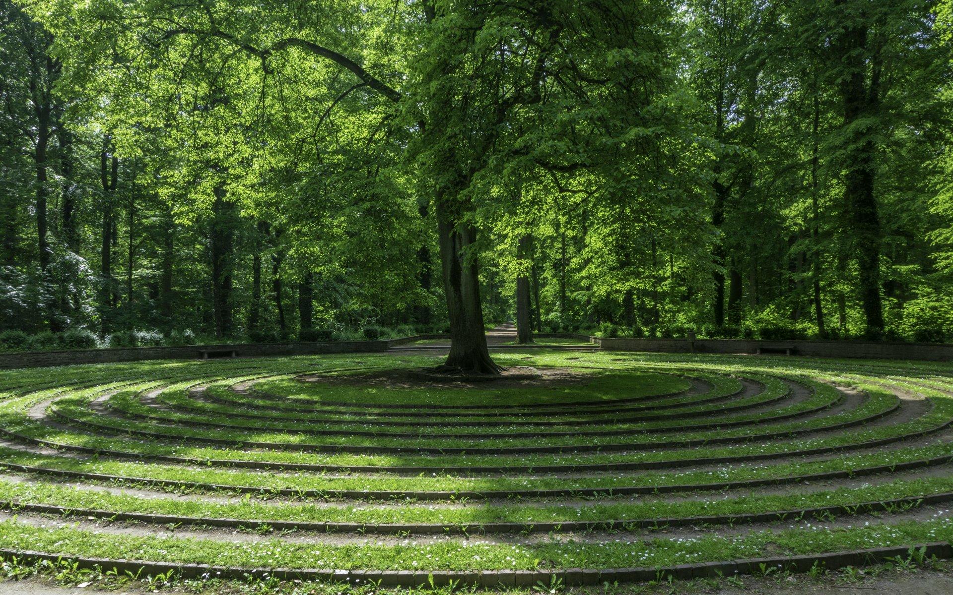 Labyrinth »Das Rad« an der Fischereiche in der Eilenriede