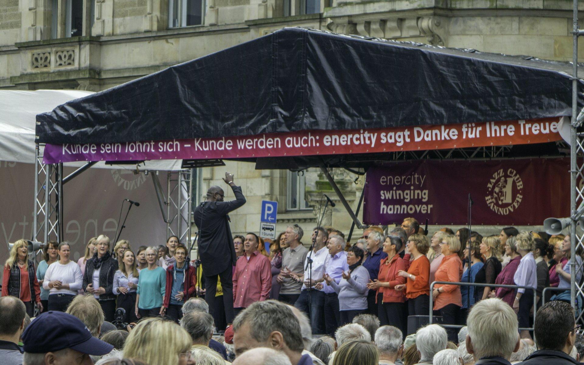 Gospelchor auf dem Trammplatz