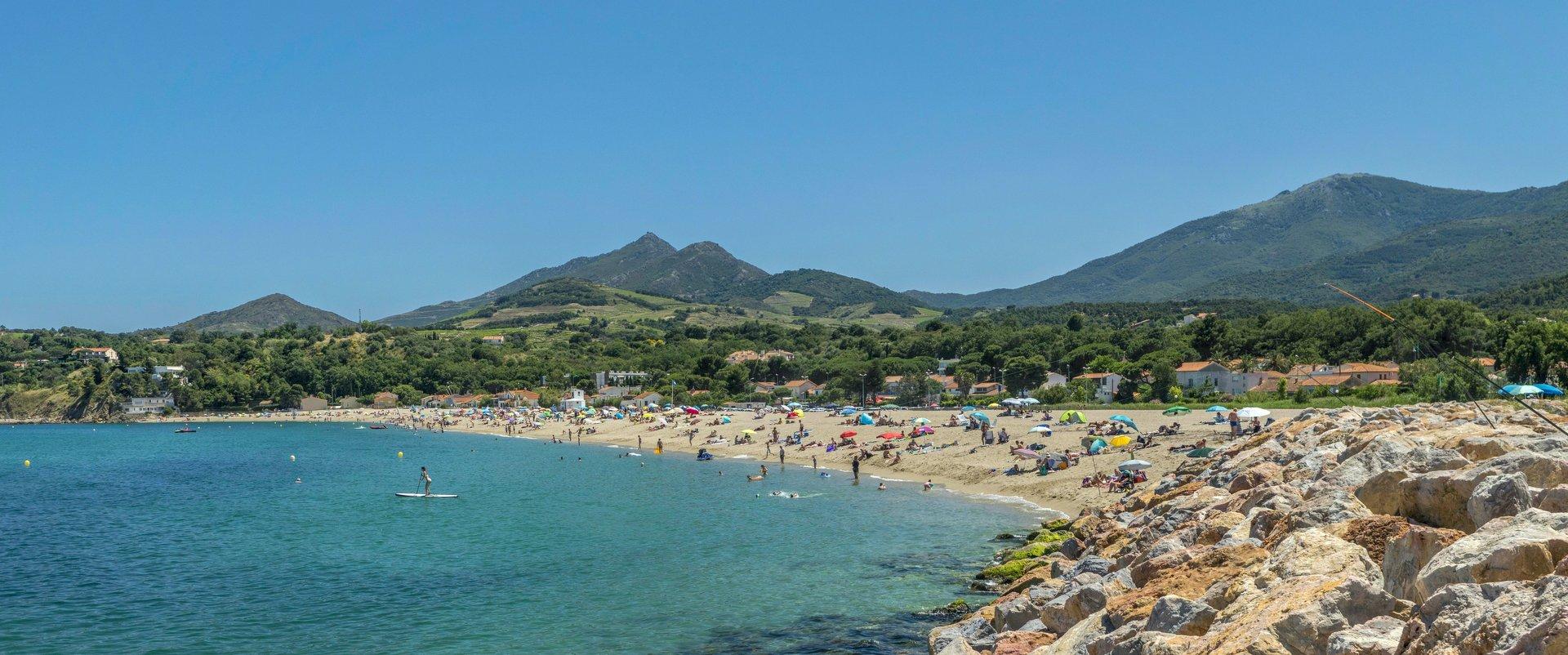 Strand »Racou« in Argelès-sur-Mer