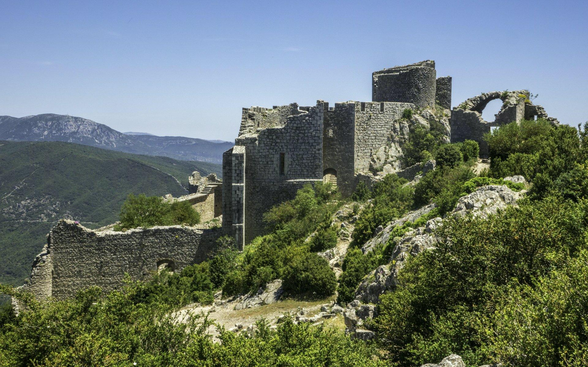 Untere Burg vom Château de Peyrepertuse