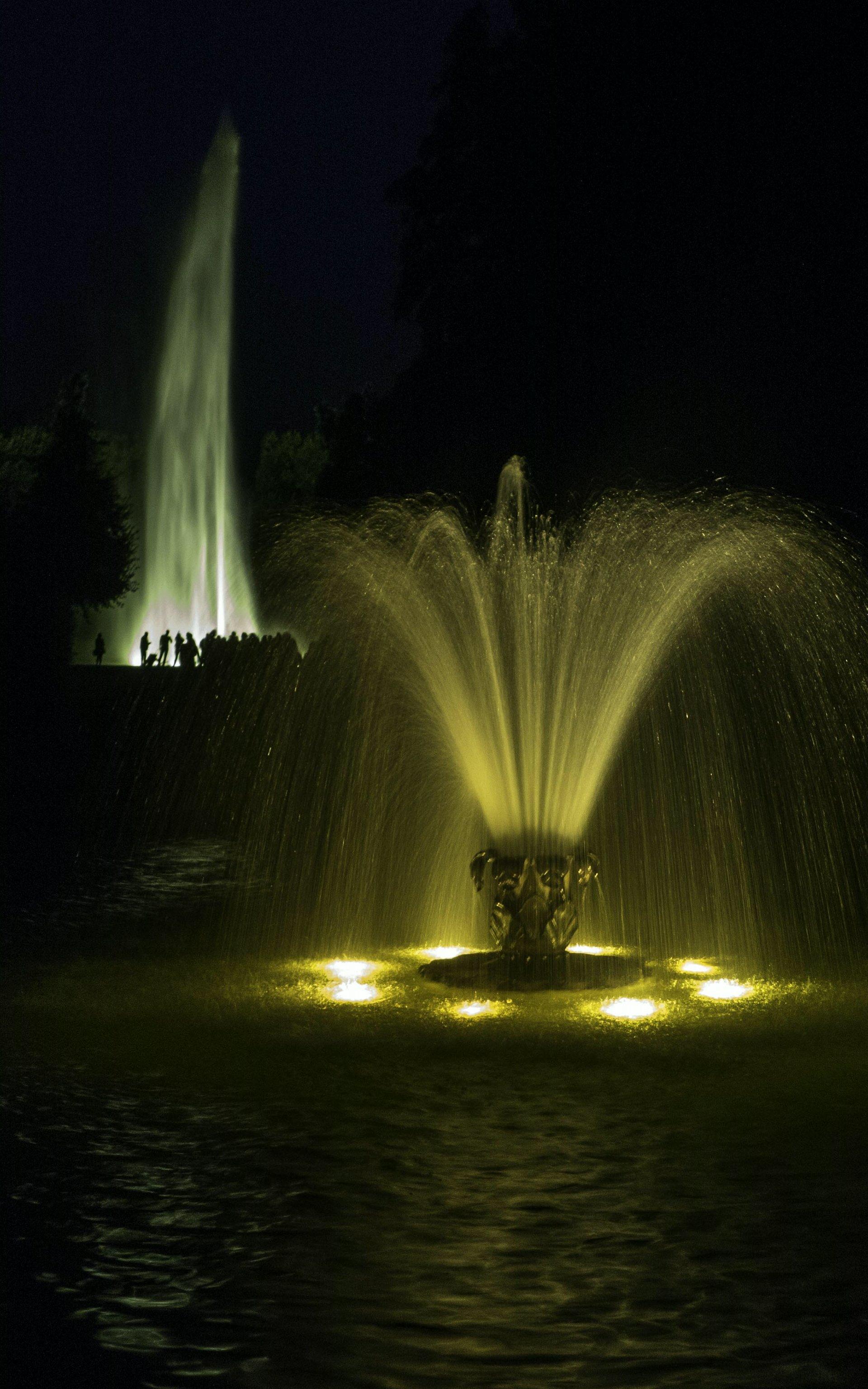 Sternfontaine und Große Fontaine im Großen Garten