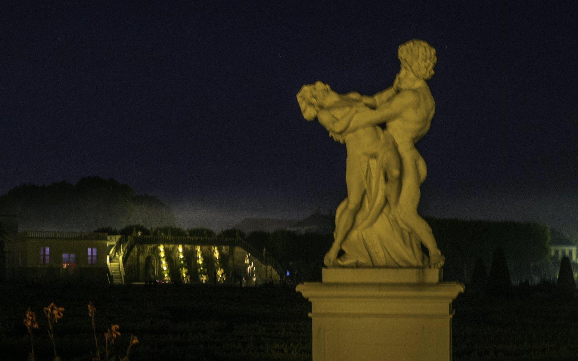 Pluto und Proserpina im Parterre des Großen Gartens