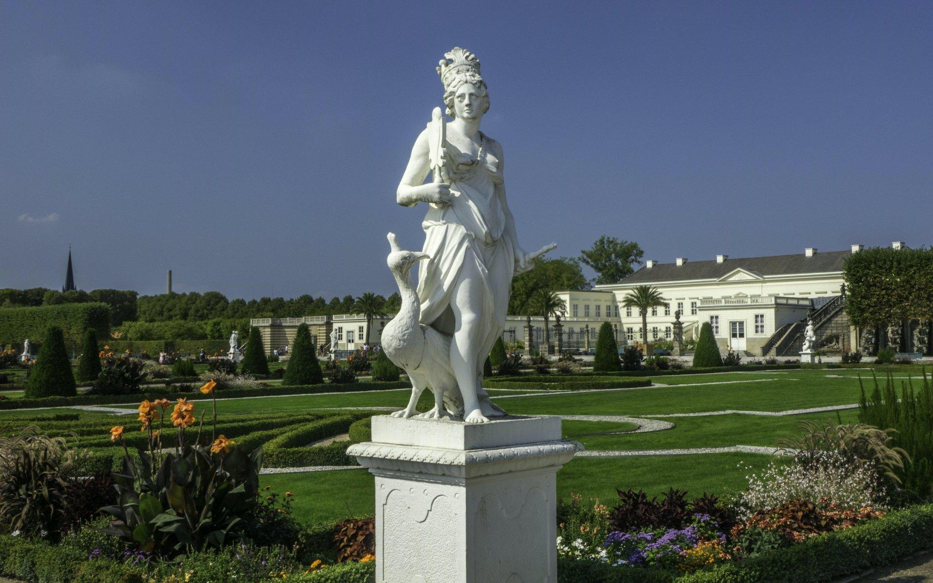 Juno als Allegorie der Luft im Parterre des Großen Gartens