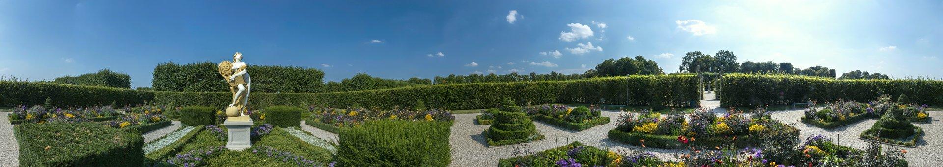360° Panorama des Niederdeutschen Blumengartens im Großen Garten