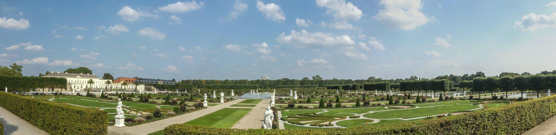 Panorama des Parterre im Großen Garten