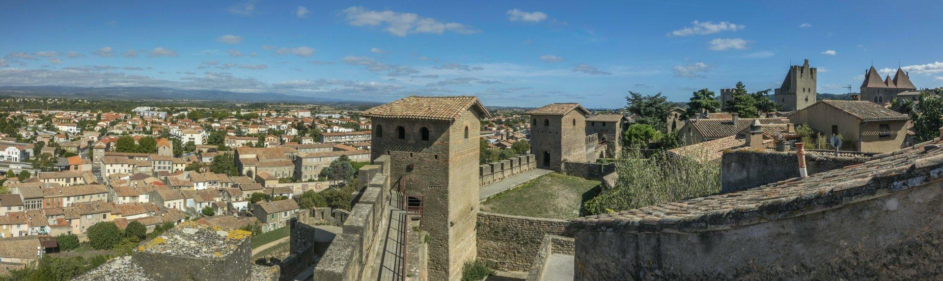 Nördliche innere Stadtmauer der Cité Carcassonne