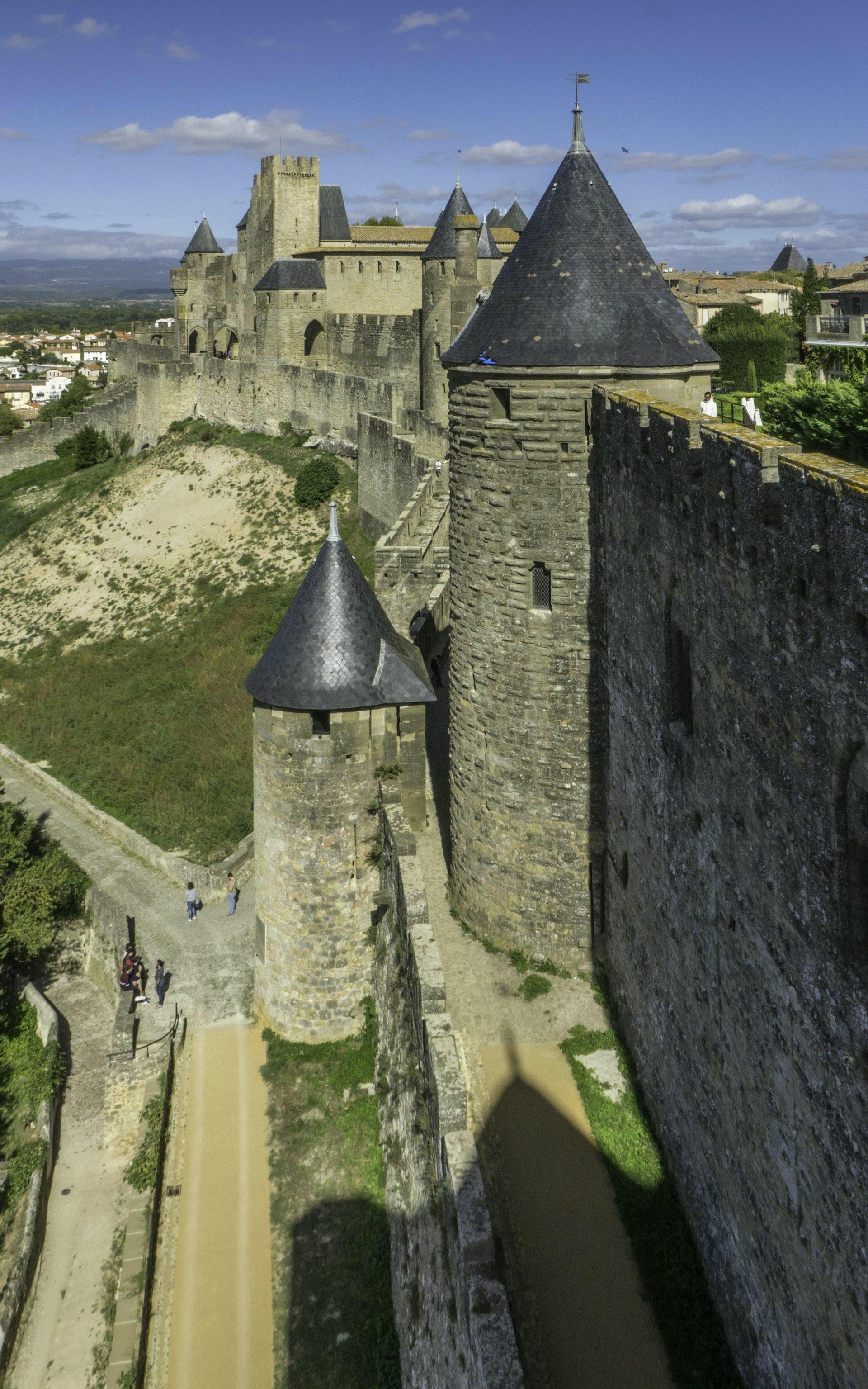 Westliche Stadtmauer der Cité Carcassonne