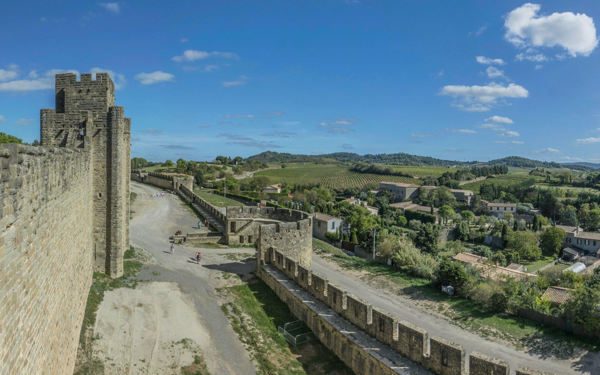 Südliche Stadtmauer der Cité Carcassonne