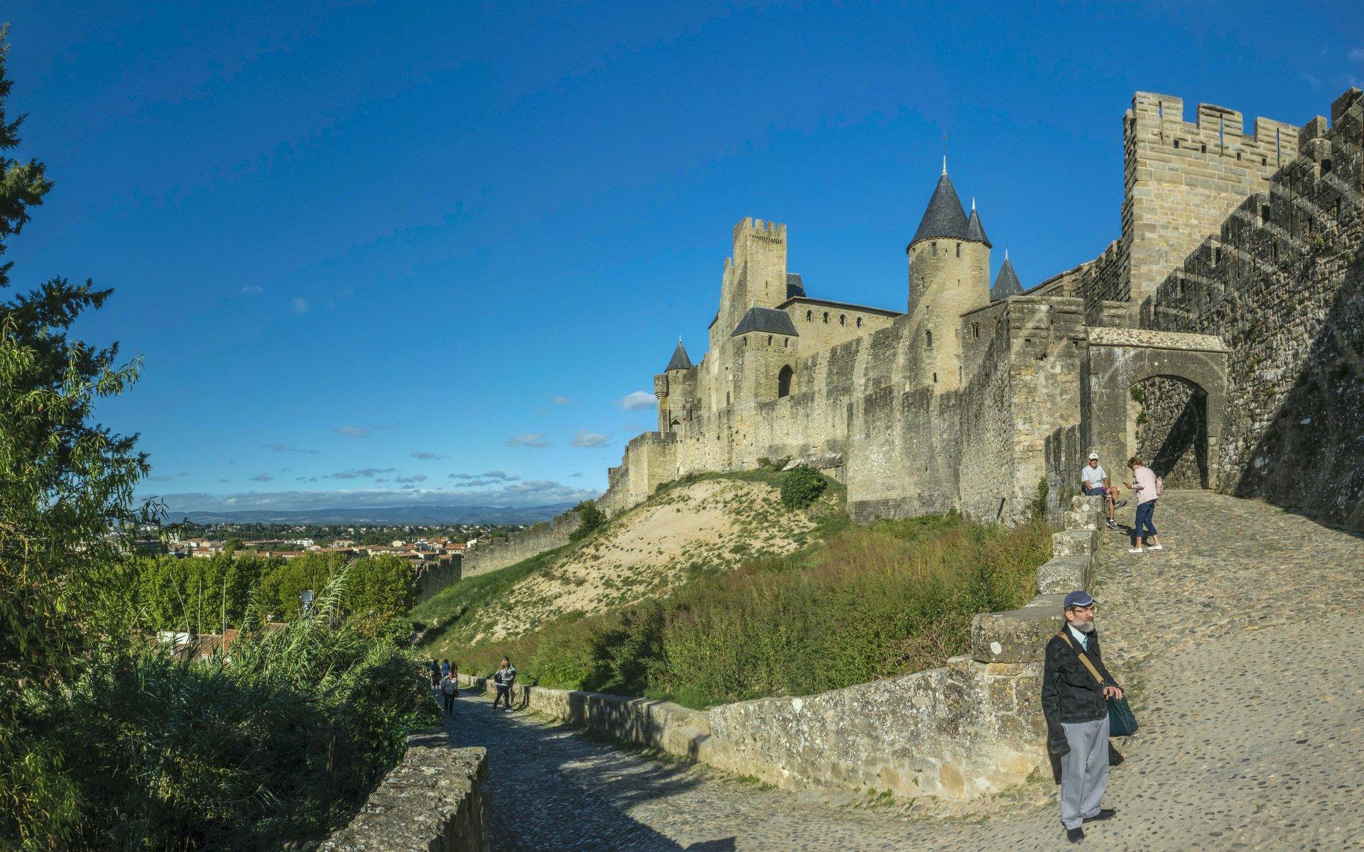 Porte d'Aude der Cité Carcassonne
