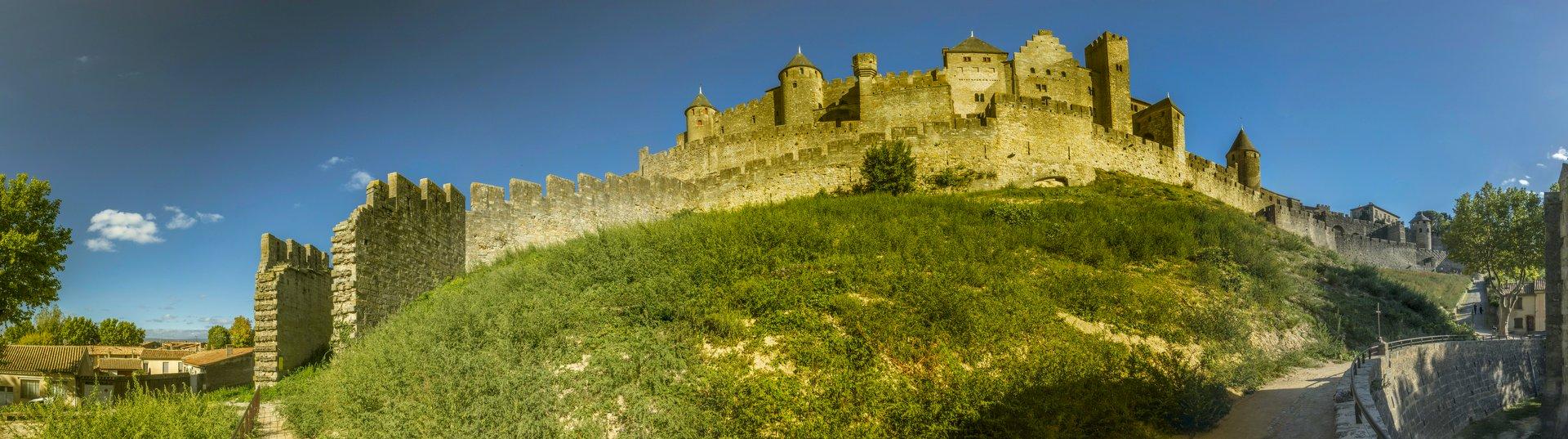 Panorama vom Château Comtal in der Cité Carcassonne