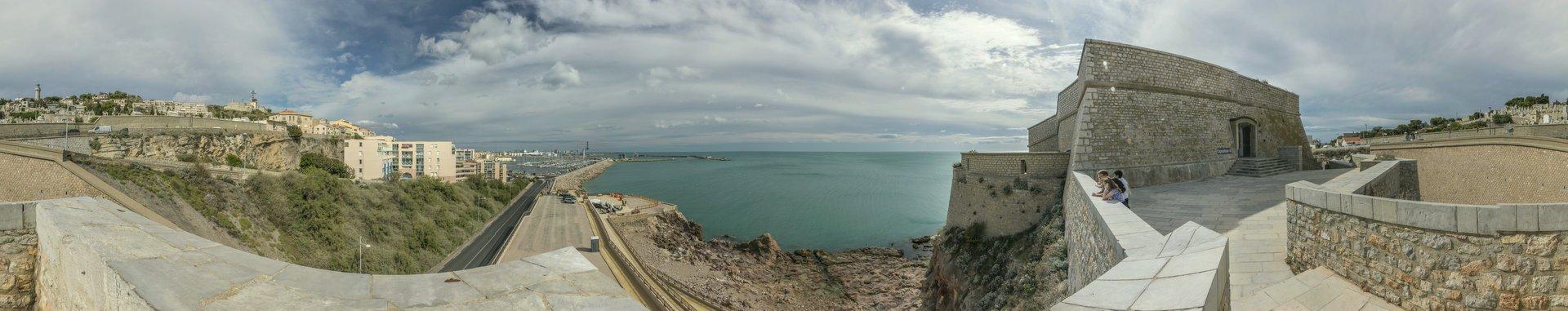 360° Panorama am Théâtre de la Mer in Sète