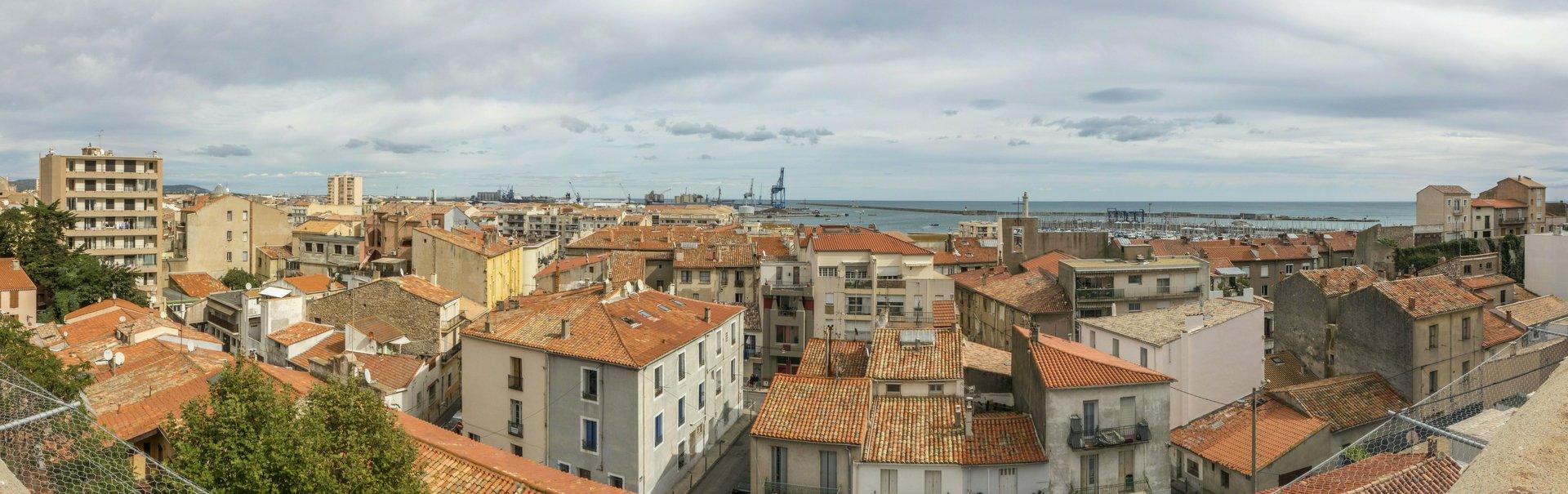 Panorama von der Grande Rue Haute auf Sète