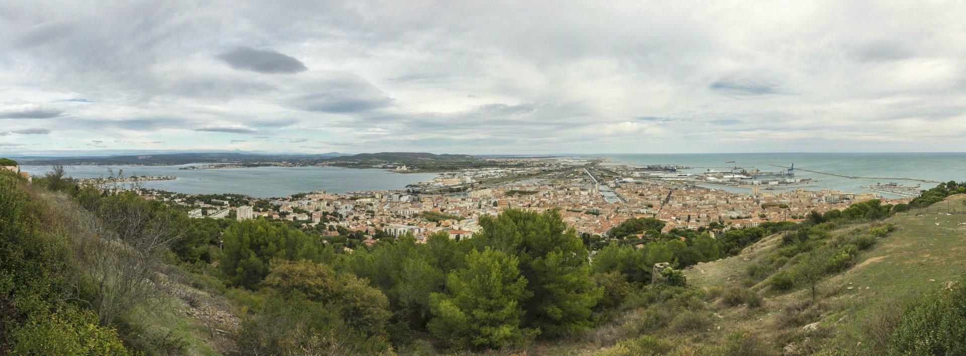 Panorama von der Aussichtsplattform Saint-Claire in Sète