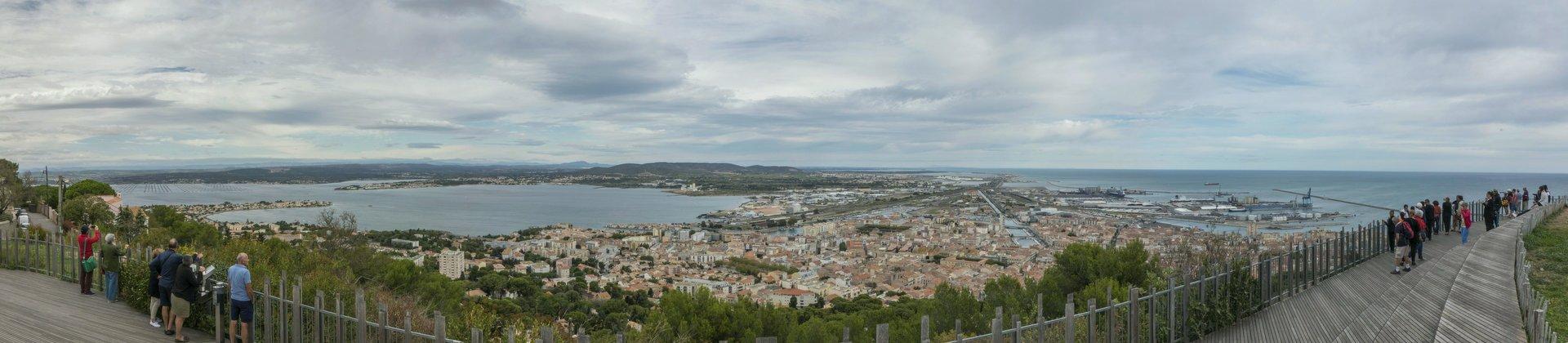 Panorama der Aussichtsplattform Saint-Claire in Sète