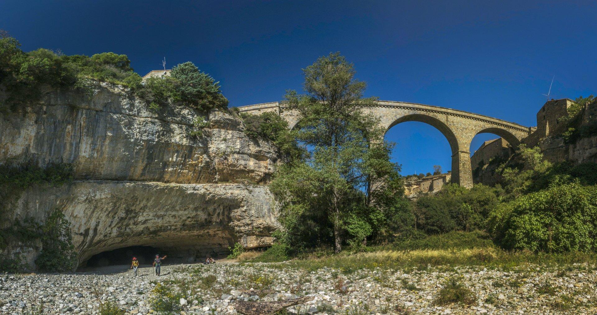 Pont Grand bei Minerve und Brücke nach Minerve