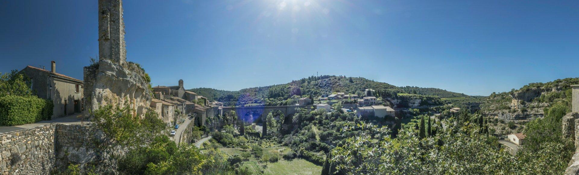 Panorama von der Rue des Remparts in Minerve
