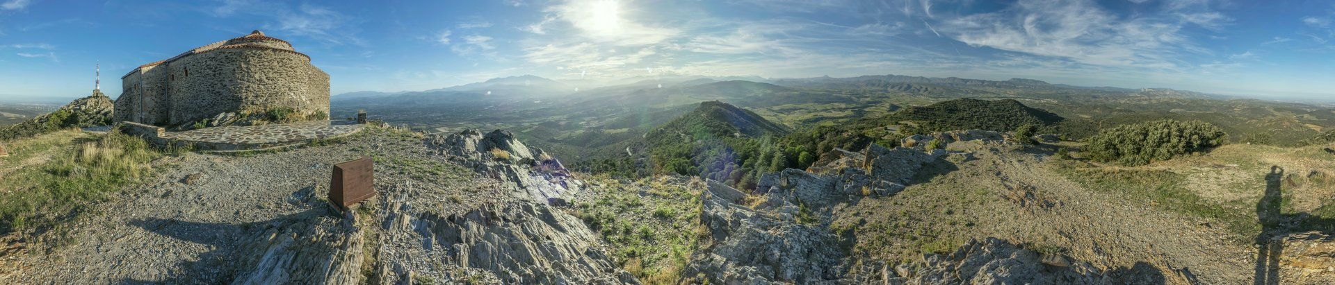 360° Panorama hinter der Eremitage auf dem Força Réal