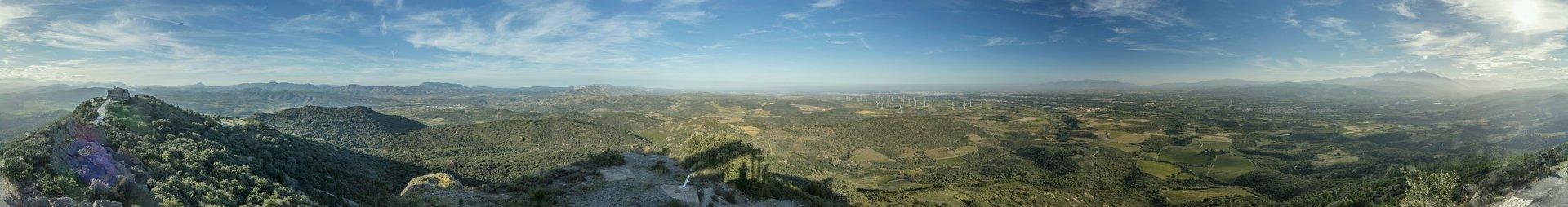 360° Panorama um das Observatoire du Littoral auf dem Força Réal