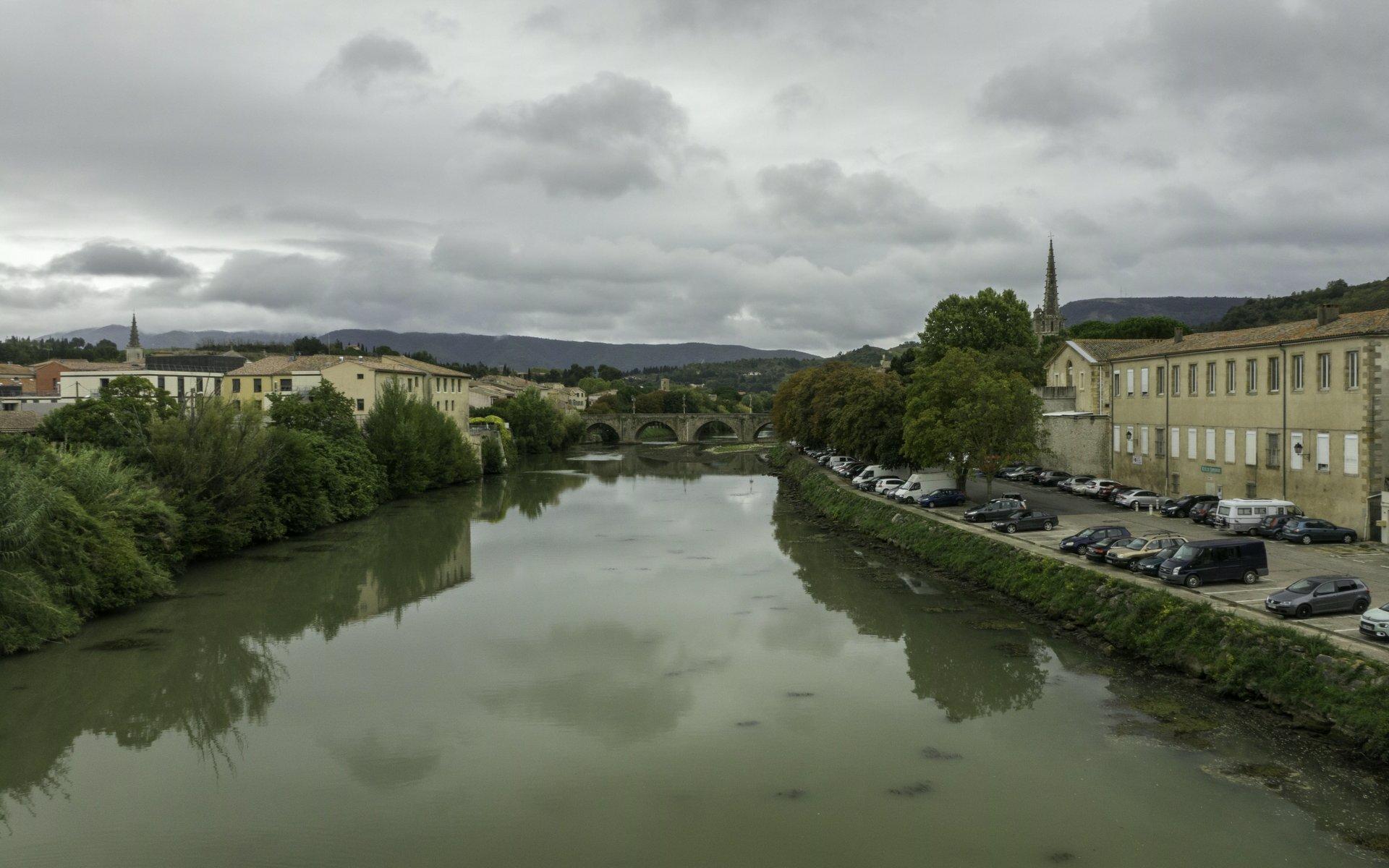 Aude und Pont Neuf in Limoux